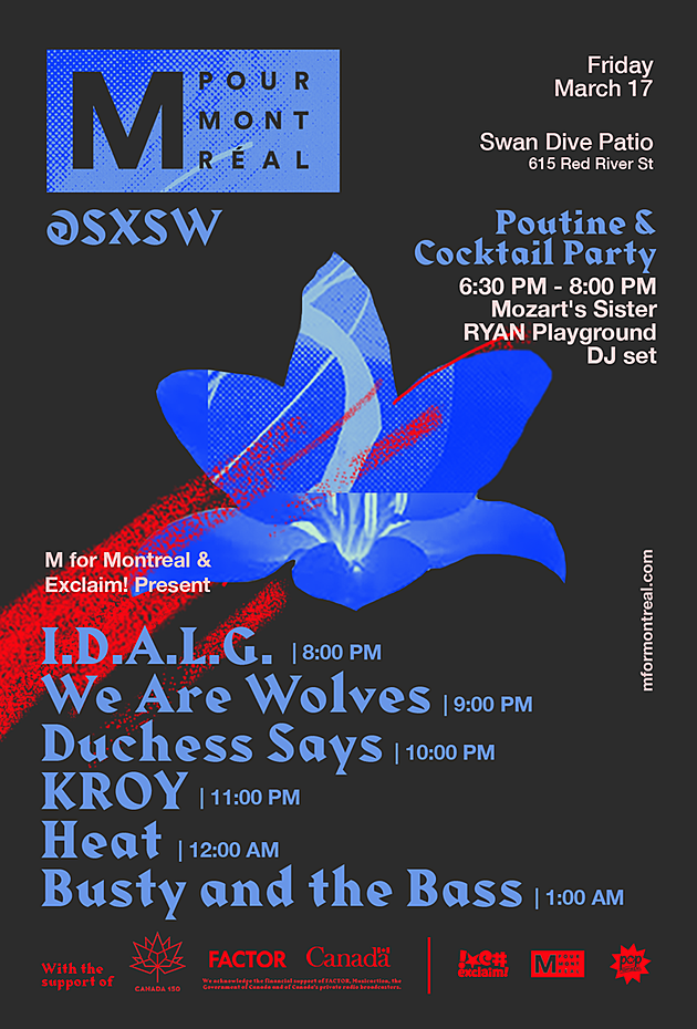 M For Montreal 2017 SXSW flyer